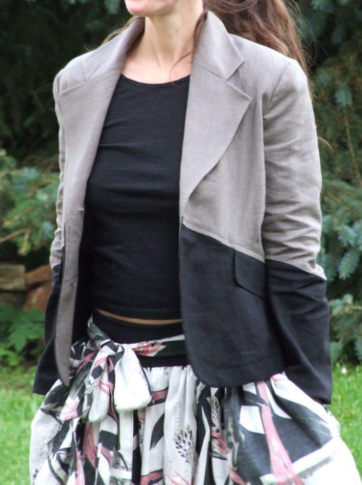 lněné dámské sako