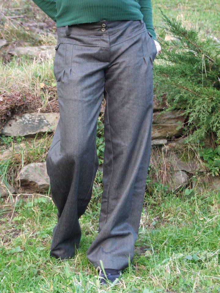 Dámské bavlněno lněné kalhoty
