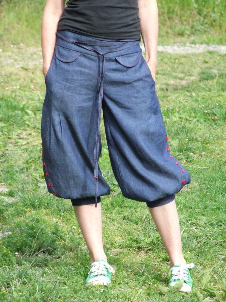 Jeansové dámské pumpky