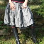 Bavlněno lněná sukně