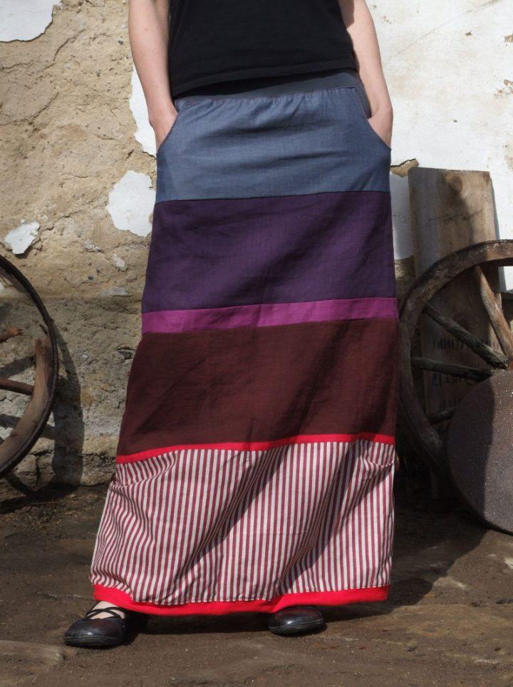 Lněná dlouhá sukně