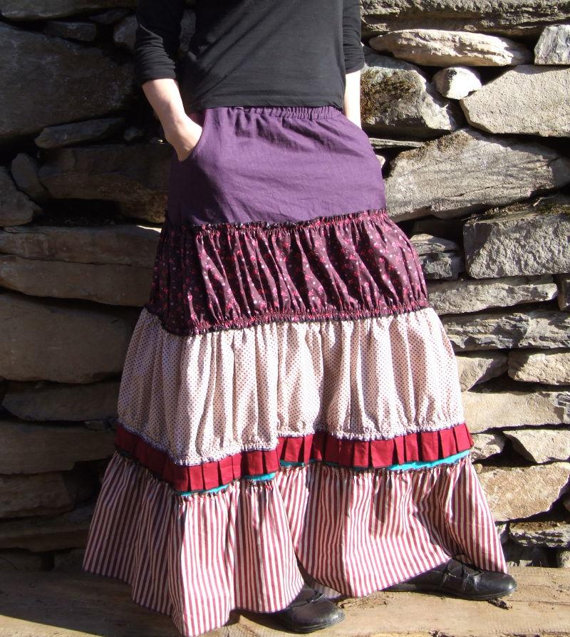 Volánová sukně