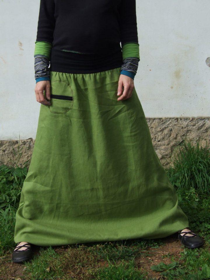 Turecké kalhoty dámské lněné