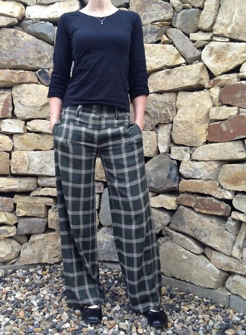 Dámské vlněné kalhoty