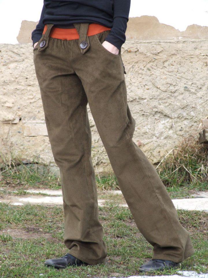 manšestrové kalhoty dámské