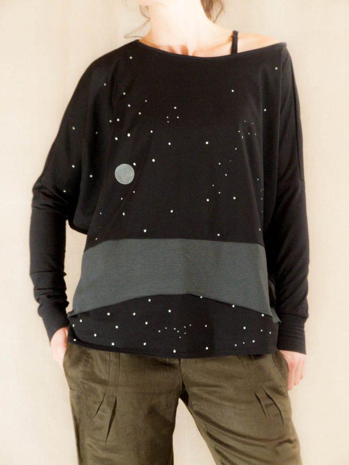 dámské triko noční obloha