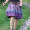 Dámská lněná balonová sukně