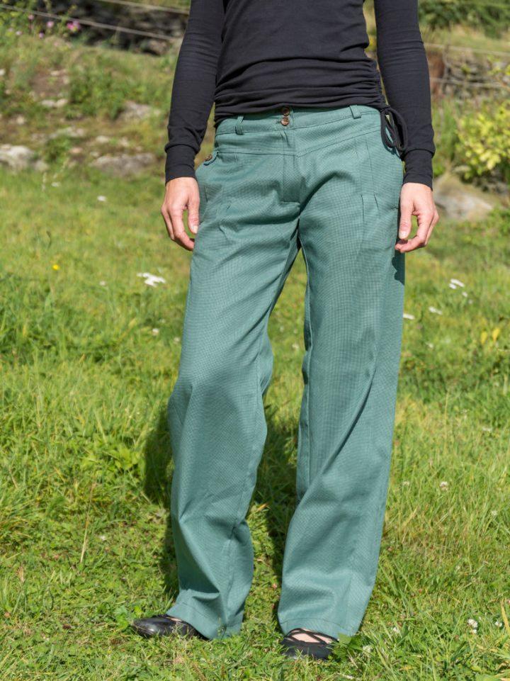 Dámské kalhoty zelené bavlněné