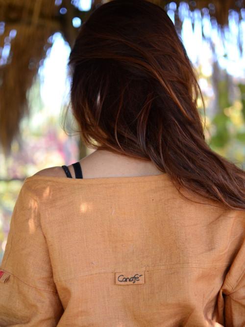 f5477822af4 lněná košile karamelová