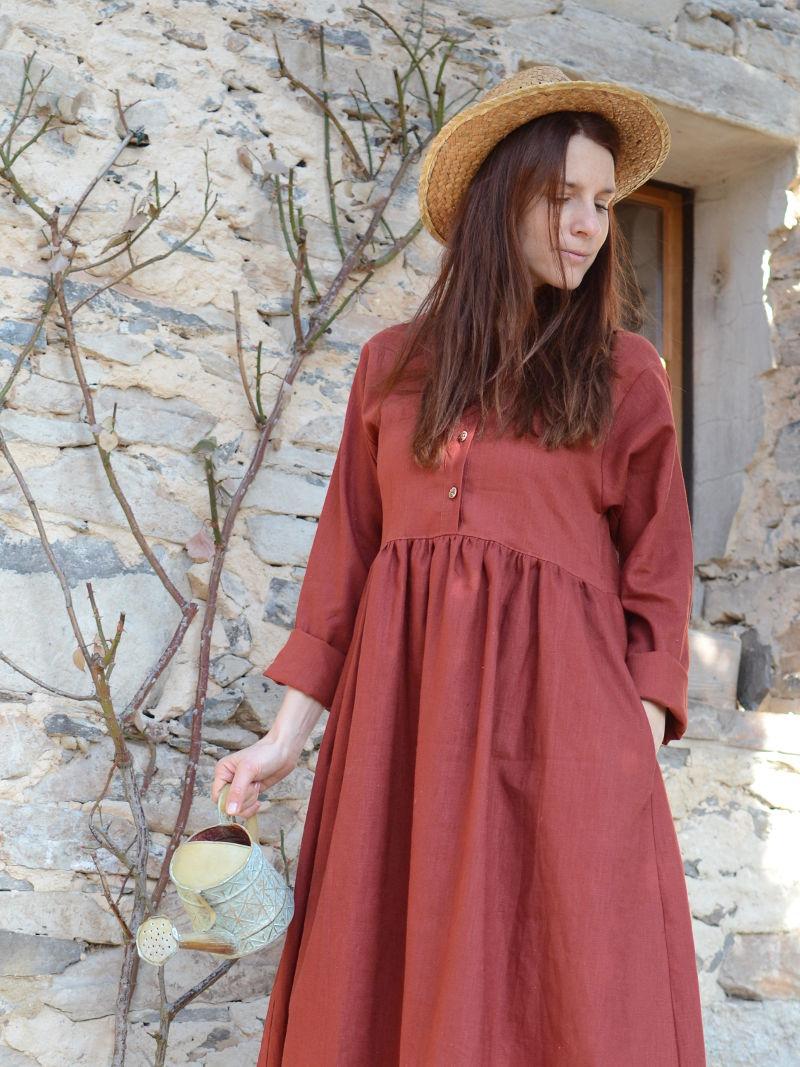 """51fd38929da3 Lněné šaty """"Královna podzimu 11"""""""